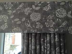 Soft pelmet and Curtains
