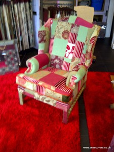reupholstery patchwork chair