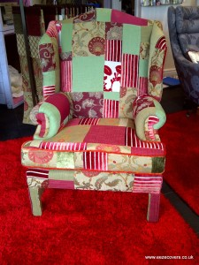 reupholsterey for patchwork chair