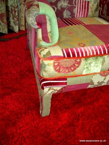 reupholstered patchwork chair